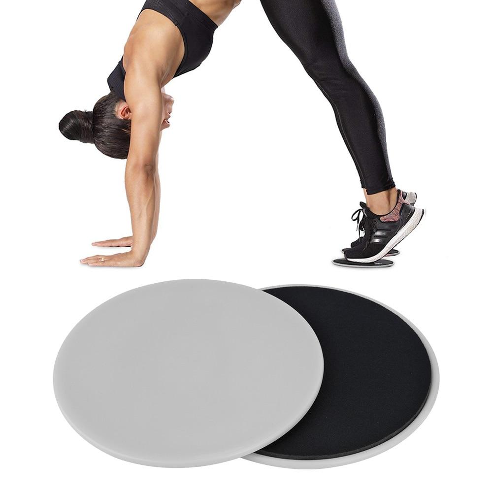 2 Pcs Gliding Slider Fitness Disc Exercise Sliding Plate