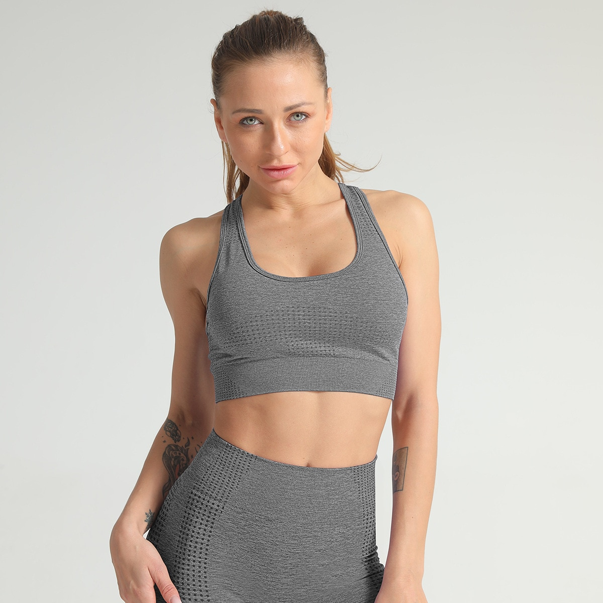 Seamless Yoga Suit Fitness Workout Set