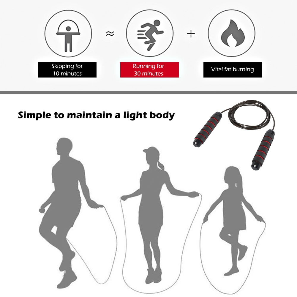 Adjustable Fast Speed Crossfit Jump Rope