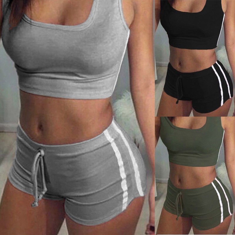 Sleeveless Tank Top and Shorts